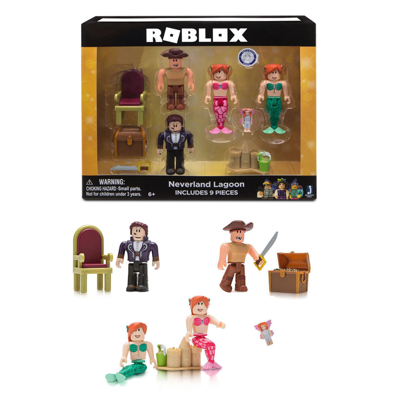 US $6 2 19% OFF|Roblox Game Figure Set Chraracters Toys Mystery Box Prison  Life Police Mermaid Roblox Champions Figure Buidling Block Oyuncak-in