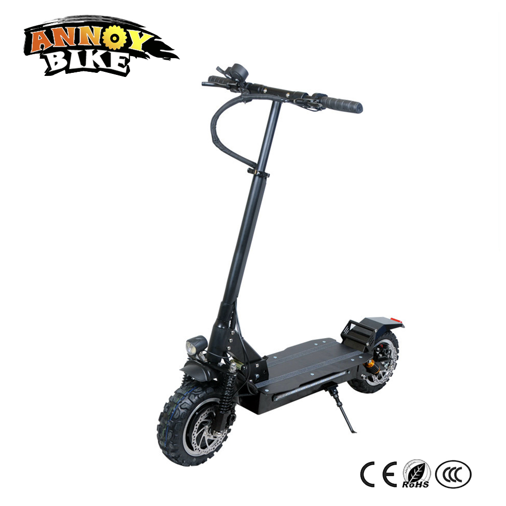 Electric Scooter SUV Drouble Drive 11 inch 48V3200W Foldable Shock Absorber Disc Adult Off Road Electric Scooter g force g1 250w 5 inch foldable electric scooter with maple deck only 7 8kg