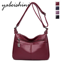 Women Leather Messenger Bags Luxury Handbags Women Bag Designer Female Crossbody Vintage Shoulder Bag Ladies Bolsas Sac a Main цена