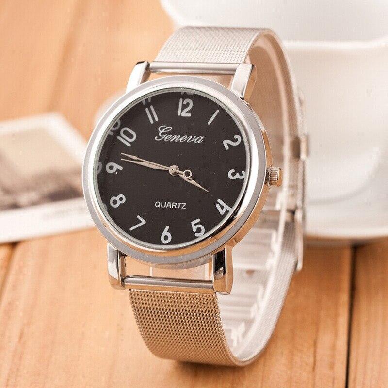 Famous Brand Silver Casual Geneva Quartz Watch Women Mesh Stainless Steel Dress bracelets Women Watches Relogio Feminino Clock