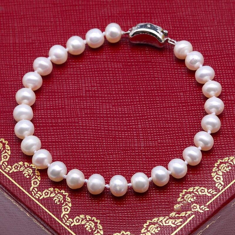 JYX 6-7 մմ մարգարիտ զարդերի հավաքածուներ - Նուրբ զարդեր - Լուսանկար 5