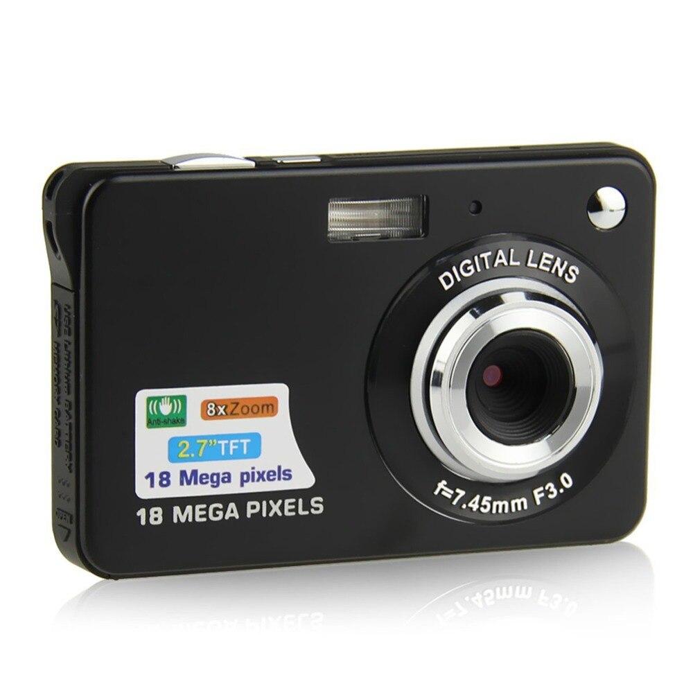"HTB1NVA3XZrrK1RjSspaq6AREXXay Children Portable Mini Camera 2.7"" 720P 18MP 8x Zoom TFT LCD HD Digital Camera Video Camcorder DV Anti-Shake Photo For Kids Gift"