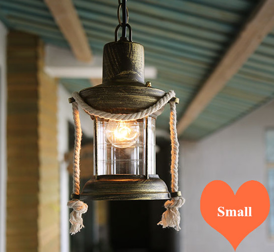 Southeast Asia old-fashioned glass pendant lights retro Kerosene lamp design E27 LED iron lamp for stairs&bar&porch&aisle LDK025 southeast asia style hand knitting bamboo art pendant lights modern rural e27 led lamp for porch