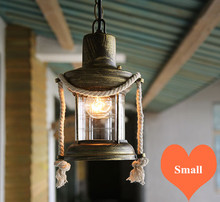 Southeast Asia Old Fashioned Glass Pendant Lights Retro Kerosene Design E27 LED Iron