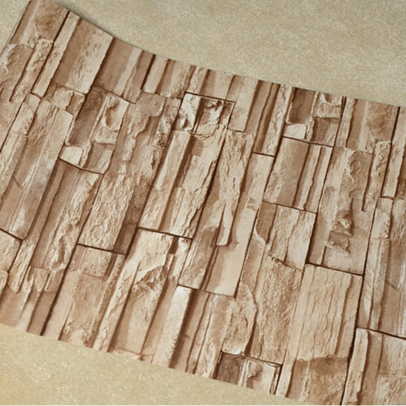 Beibehang Stone brick wall 3D wallpaper roll modern retro pvc vinyl wall bedroom living room background wallpaper for walls 3 d beibehang stone brick 3d wallpaper roll modern vintage wall paper pvc vinyl wall covering for bedroom live room tv background