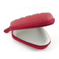 High Quality Triangle Shape Headphones Box Earphone Earbuds Hard Case Trinketry Storage Carrying Pouch Bag Zipper Box