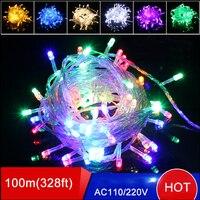 30pcs Led Christmas Lights 600LED 100M 220V Colorful String Fairy Light Christmas Tree Party Wedding Lights