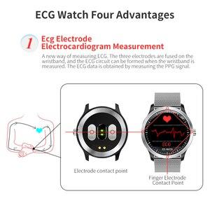 Image 4 - RUNDOING N58 ECG EKG PPG smart watch con ECG display PPG holter ecg heart rate monitor di pressione sanguigna smartwatch