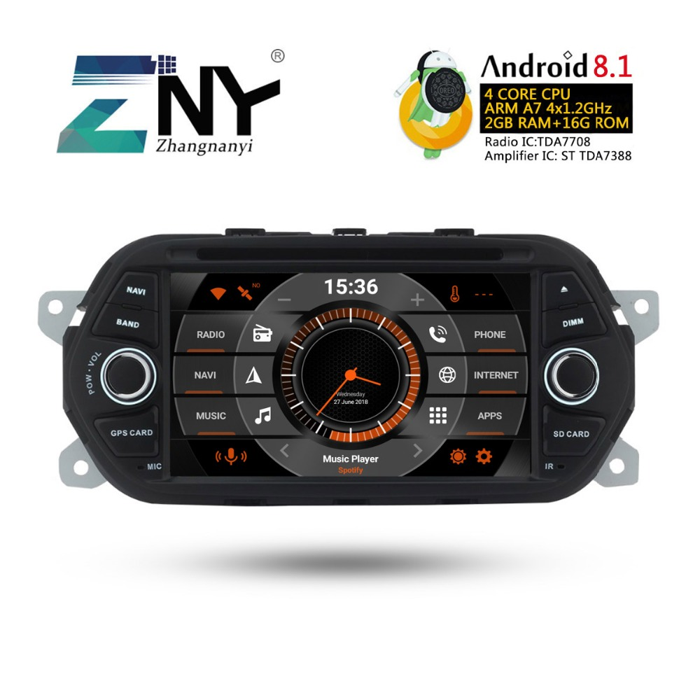 "7"" HD Android 8.1 Car GPS Stereo For Fiat Tipo Egea 2015 2016 2017 Auto DVD Radio FM RDS WiFi Audio Video Player Backup Camera"