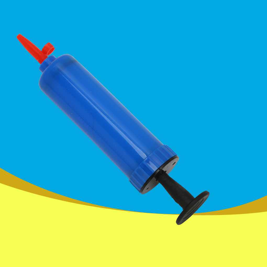 Brand new Mini Plastic Hand Hold Party Balloon Inflator Ball Air Pump For Football Basketball Cool