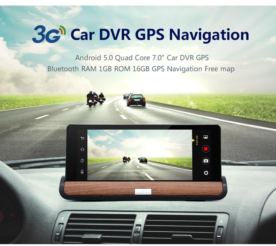 Junsun 3G 7 inch Car DVR GPS Navigation Android 5 0 Bluetooth wifi  Automobile with Rear view camera Navigators sat nav Free maps