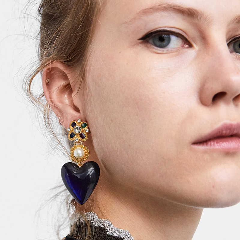 JURAN ZA Charm Multicolored Drop Dangle Earrings For Women Geometric Wedding Party Vintage Christmas Gift Fashion Jewelry Bijoux