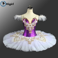 2017 HOT SALE Adult Women Velvet Purple Ballet Tutu Classical For Competiton Professional Ballet Costumes BT9157