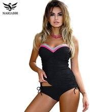 NAKIAEOI חדש בגדי ים נשים בגד ים לדחוף את Tankini סט בציר רטרו תחבושת בגד ים החוף ללבוש בתוספת גודל בגדי ים M ~ 3XL