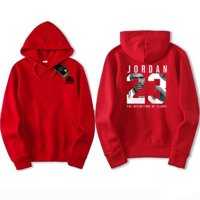 1c1835c4ab3574 2017 New Printed red Black gray sapphire Sweatshirts Jordan Men Pullover  Hoodies Long Sleeve Hoody Clothing Size M-XXL