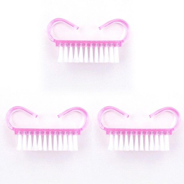 Elite99 Rosa Farbe 1 stücke Kunststoff Reinigung Nail Pinsel Nail art Pflege Werkzeuge Datei Maniküre Pediküre Entfernen Staub Weichen, Sauberen werkzeuge