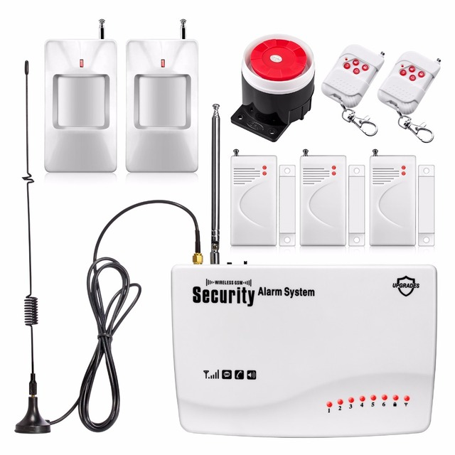 New IOS/Android APP Wireless/Wired  Home Security Burglar GSM Alarm System Remote Control Setting Arm/Disarm