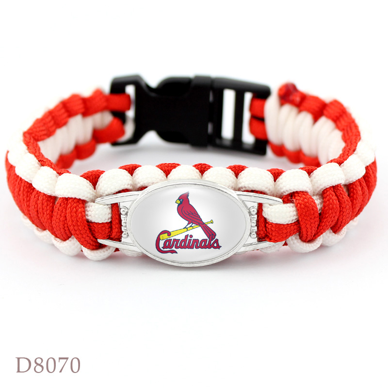 4 Style St. Louis Cardinals Baseball Team Bracelet Sport Team Umbrella Braided Bracelet Fans Gift Men Women Jewelry