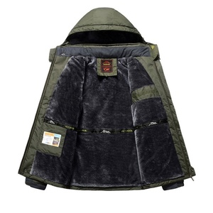 Image 5 - Winter Männer Jacken Dicke Warme Mit Kapuze Mantel Männer Im Freien Outwear Wasserdicht Lässig Inneren Fleece Jacken Plus Größe Thermische Jaqueta