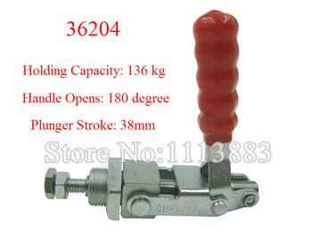 3PCS Push Pull Type Toggle Clamp 36204 Holding Capacity 136KG 300LBS Plunger Stroke 38mm