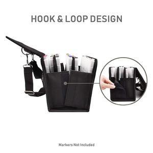 Image 3 - 80 สล็อตพับ MARKER ปากกาผ้าใบ Art Markers ปากกาเก็บกระเป๋าทนทาน Sketch เครื่องมือ Organizer