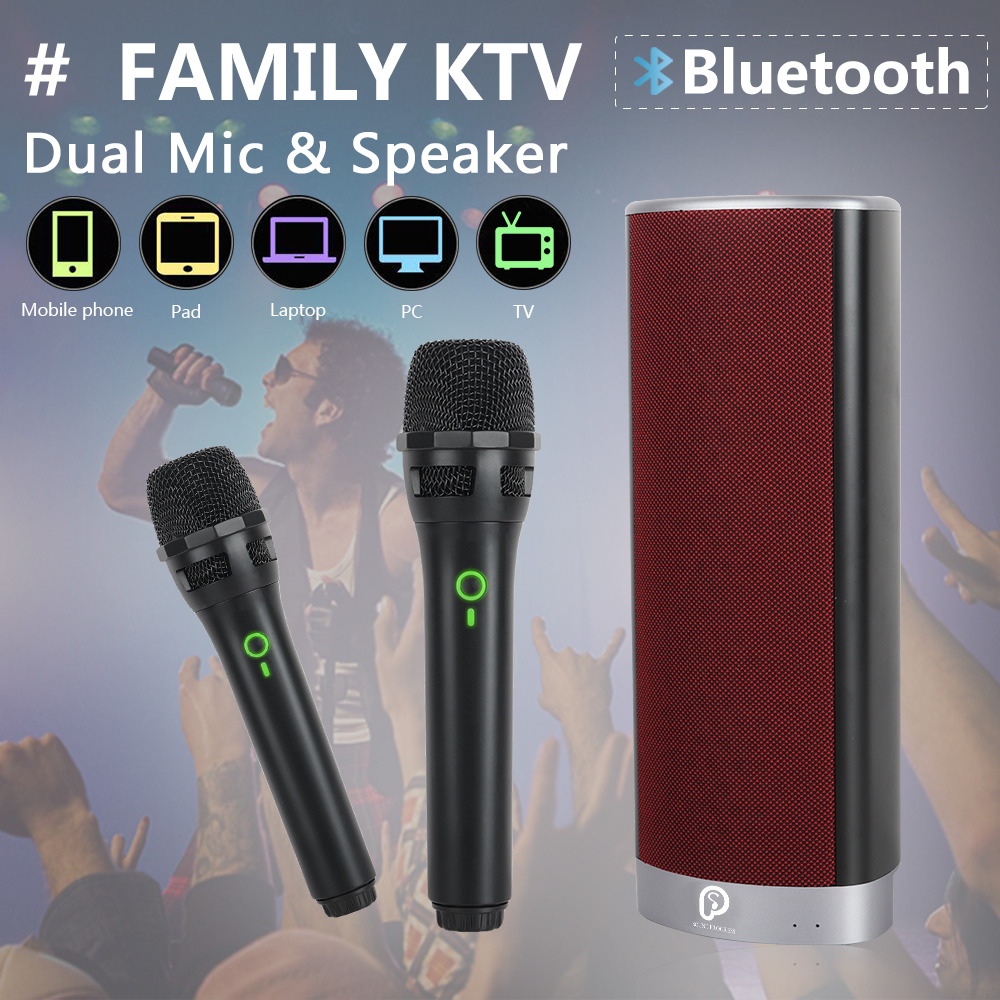 SP-Family Karaoke System,built-in Bluetooth portable Speaker with 2 Wireless Microphone for Family K songs/Party,Plug and playSP-Family Karaoke System,built-in Bluetooth portable Speaker with 2 Wireless Microphone for Family K songs/Party,Plug and play