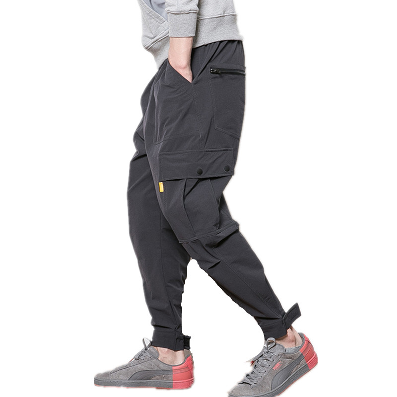 Cargo-Pants Tactical-Trouser Multi-Pockets Baggy Casual Cotton Mens Fashion Hip-Hop