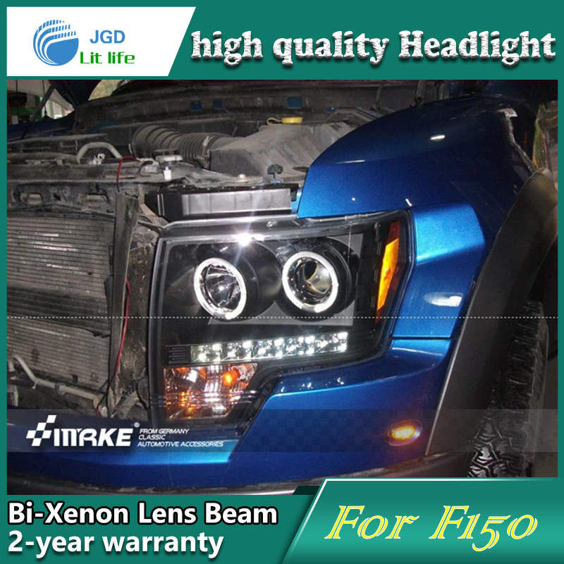 Car Styling Head Lamp case for Ford Raptor F150 Headlights LED Headlight DRL Lens Double Beam Bi-Xenon HID car Accessories hireno headlamp for 2016 hyundai elantra headlight assembly led drl angel lens double beam hid xenon 2pcs