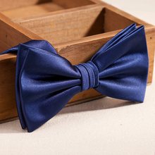 2019 New Fashion Men's Bow Ties for Wedding Luxury Formal Navy Blue Bowtie Club Banquet Anniversary Butterfly Tie with Gift Box