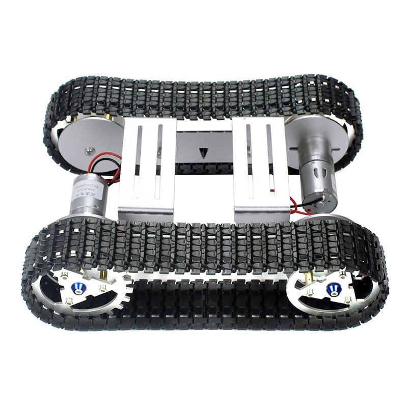 Feichao DIY Smart Shock   ดูดซับแชสซี Crawler ฐานเข็มขัด Crawler สำหรับ RC ถังหุ่นยนต์รถ A 04-ใน ชิ้นส่วนและอุปกรณ์เสริม จาก ของเล่นและงานอดิเรก บน   2