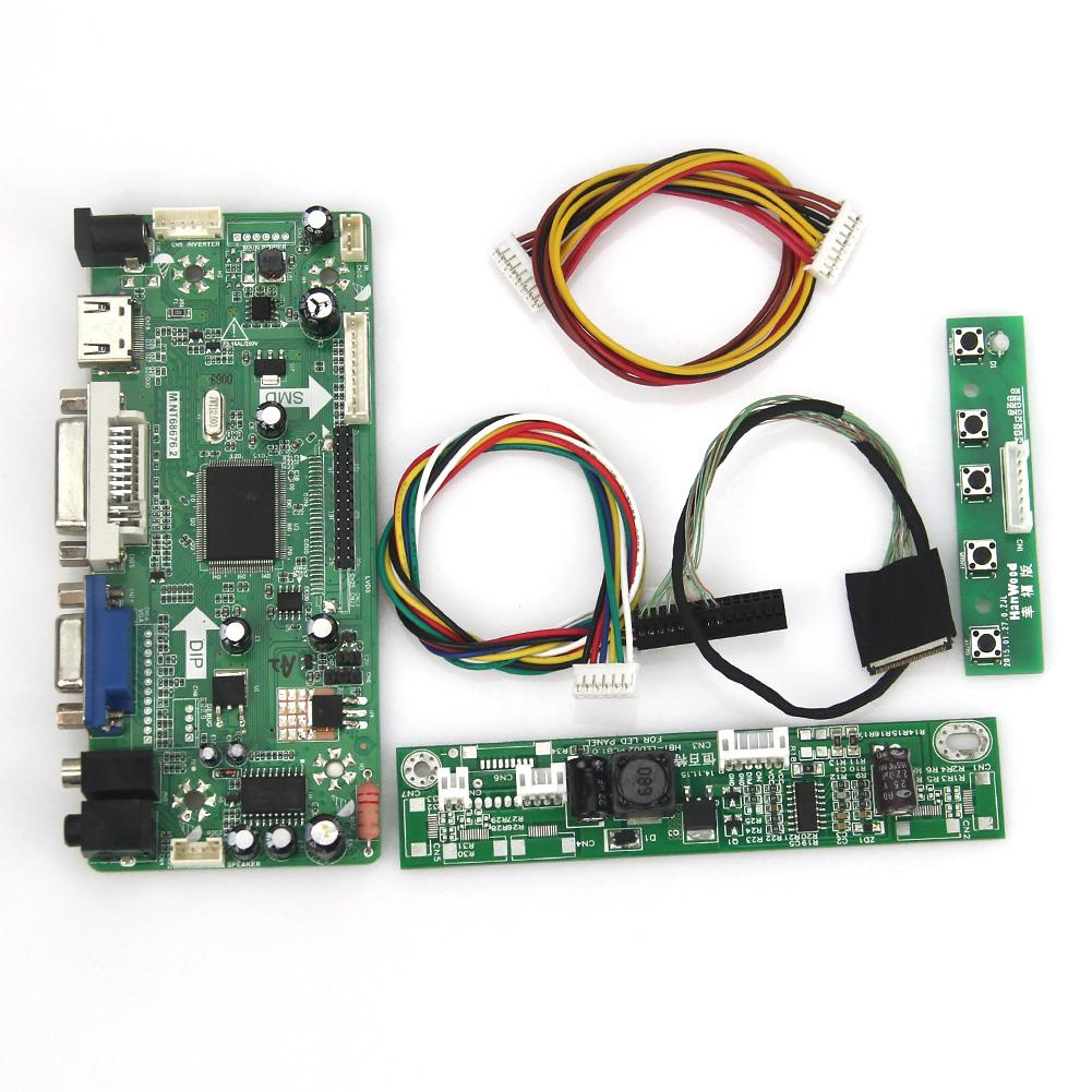 M.NT68676 LCD/LED Controller Driver Board(HDMI+VGA+DVI+Audio) For B101UAN02.1 V.1 1920*1200 LVDS Monitor Reuse Laptop цена