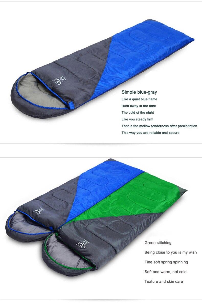 Saco de dormir de acampamento quente ao