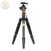 QZSD Q666C Профессиональный штатив из углеродного волокна и монопод Pro для DSLR камеры/портативный передвижной штатив Максимальная нагрузка до 15