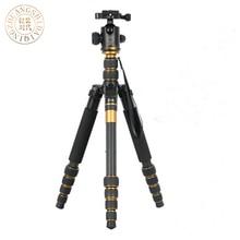 QZSD Q666Cมืออาชีพคาร์บอนไฟเบอร์ขาตั้งกล้องและMonopod Proสำหรับกล้องDSLR/พกพาเดินทางขาตั้งกล้องแม็กซ์โหลดไป15กิโลกรัม
