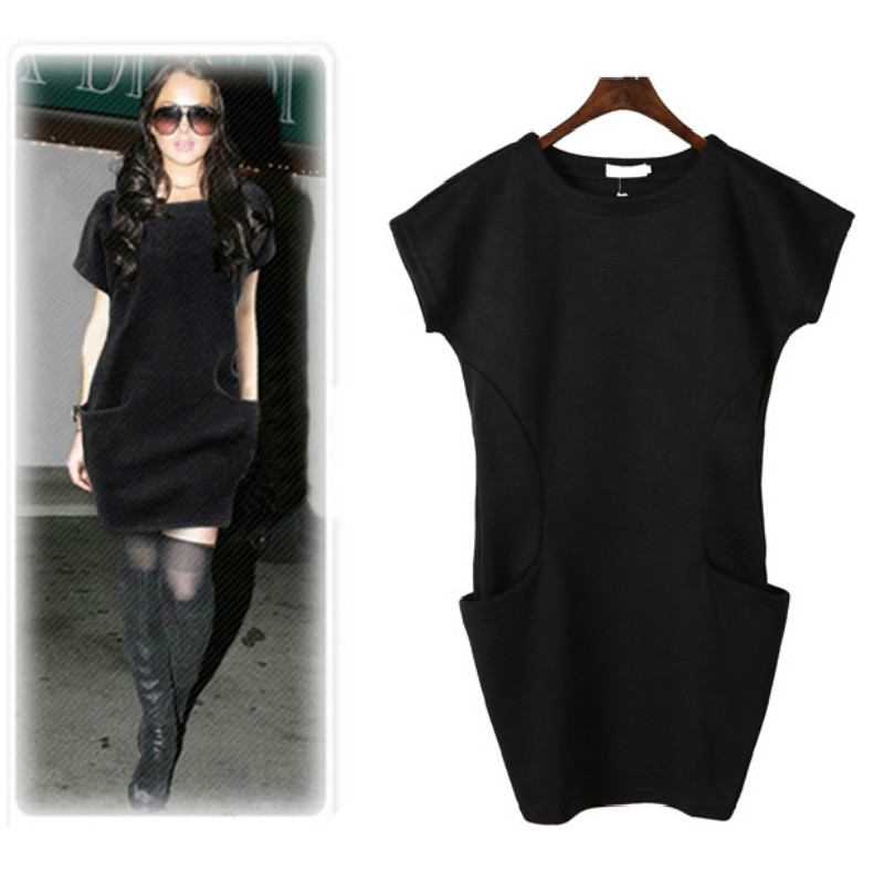 Maternity women 2017 summer autumn fashion clothing basic bat-sleeve casual dress knit cotton solid A-line dresses for pregnant