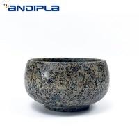 80ml Natural Medical Stone Longevity Teacup Chinese Health Care Kung Fu Tea Set Tea Bowl Masetr Cup Creative Vintage Home Decor