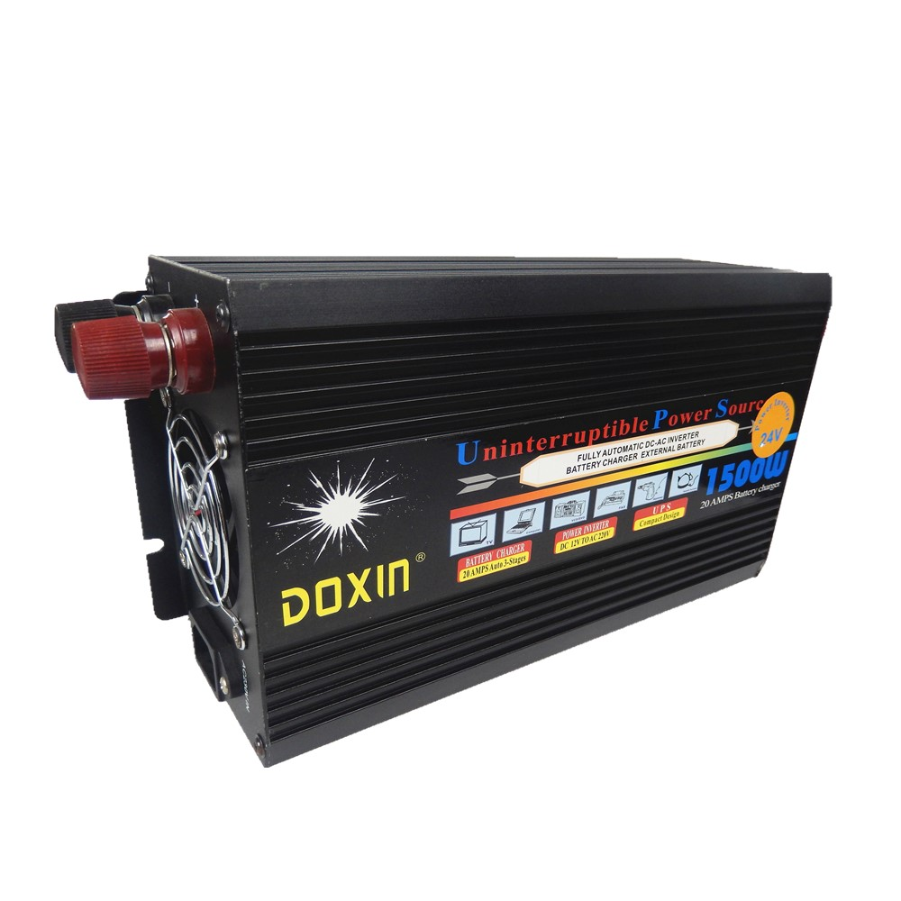цена на 1500W UPS modified wave inverter 12V or 24V DC TO AC 220V 50HZ With 20A Power Inverter+charger ups function