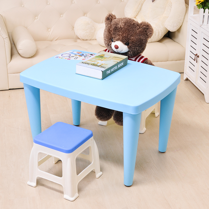 Children\\u0027s Plastic Table + Chair Kids Foam Colorful Multifunctioal Learning Table Set Tot Tutors Rectangular Show/Study Table-in Children Tables From . : child table and chair set plastic - pezcame.com