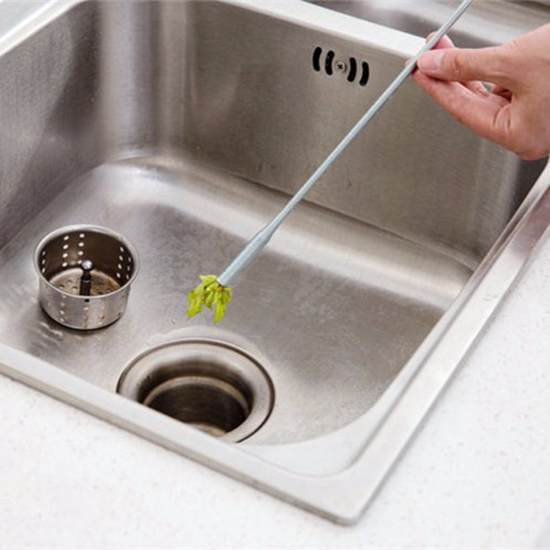 amazing How To Deodorize Kitchen Sink Drain #8: 1pc Kitchen Sink Drain Pipe Pass Sewer Dredge Bendable Bathroom Hair Cleaner Remover Household Dredging Brush
