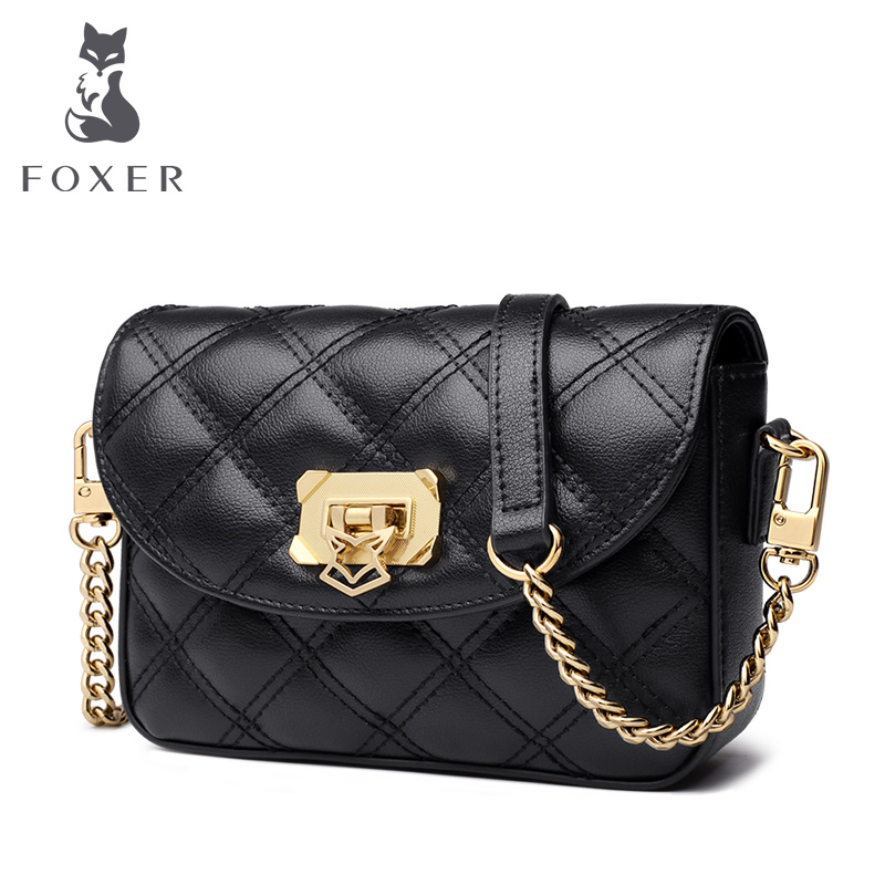 FOXER Brand Female Fashion Skin Chest bag Lady Small Crossbody Bag Women Versatile Shoulder Bags Phone