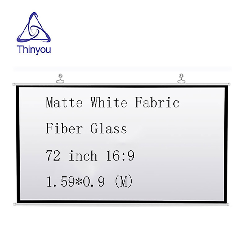 Thinyou font b Projector b font Screen 72 inch 16 9 Matte White Fabric Fiber Glass