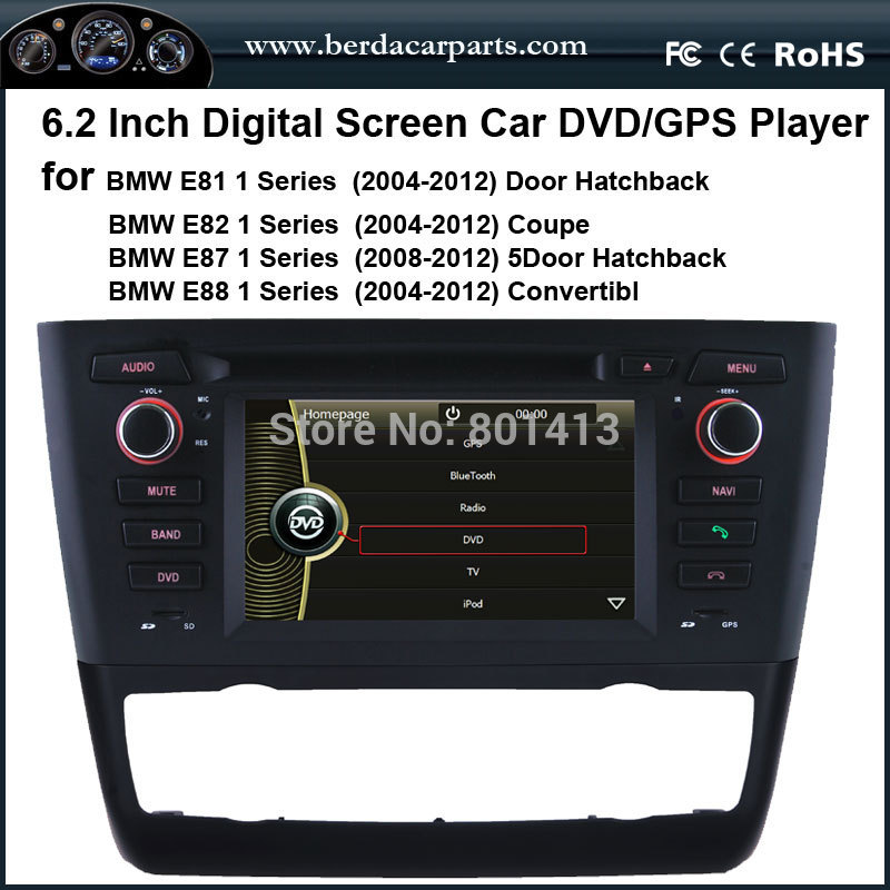 Car DVD/GPS player for BMW E81 E82 E87 E88