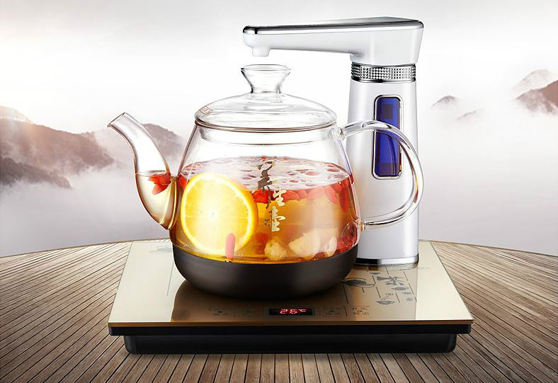 Overheat Protection Fully automatic water electric kettle intelligent boiling bubble teapot insulation glassOverheat Protection Fully automatic water electric kettle intelligent boiling bubble teapot insulation glass