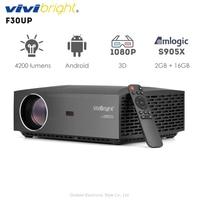 Оригинальный VIVIBRIGHT F30UP ЖК проектор Android Домашние развлечения коммерческий 1080P FHD 4200 люмен Bluetooth 4,0