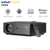 Original VIVIBRIGHT F30UP LCD Projector Android Home Entertainment Commercial 1080P FHD 4200 Lumens Bluetooth 4.0