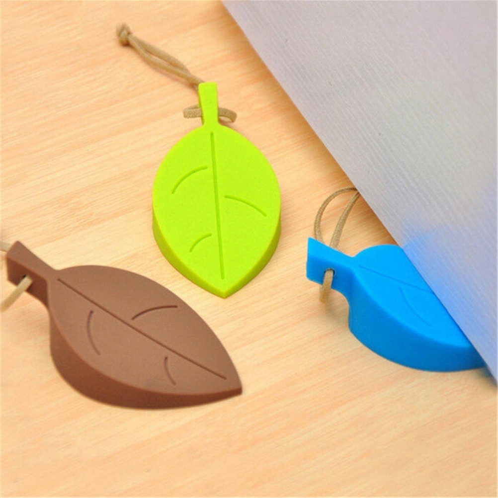 1PC New Silicone Rubber Door Stopper Wedge Cute Autumn Leaf Style Finger Safety Protection Kid Baby