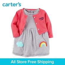 Carter's 2-Piece baby children kids clothing Boy Spring & Summer Cotton Bodysuit Dress & Cardigan Set 121I188