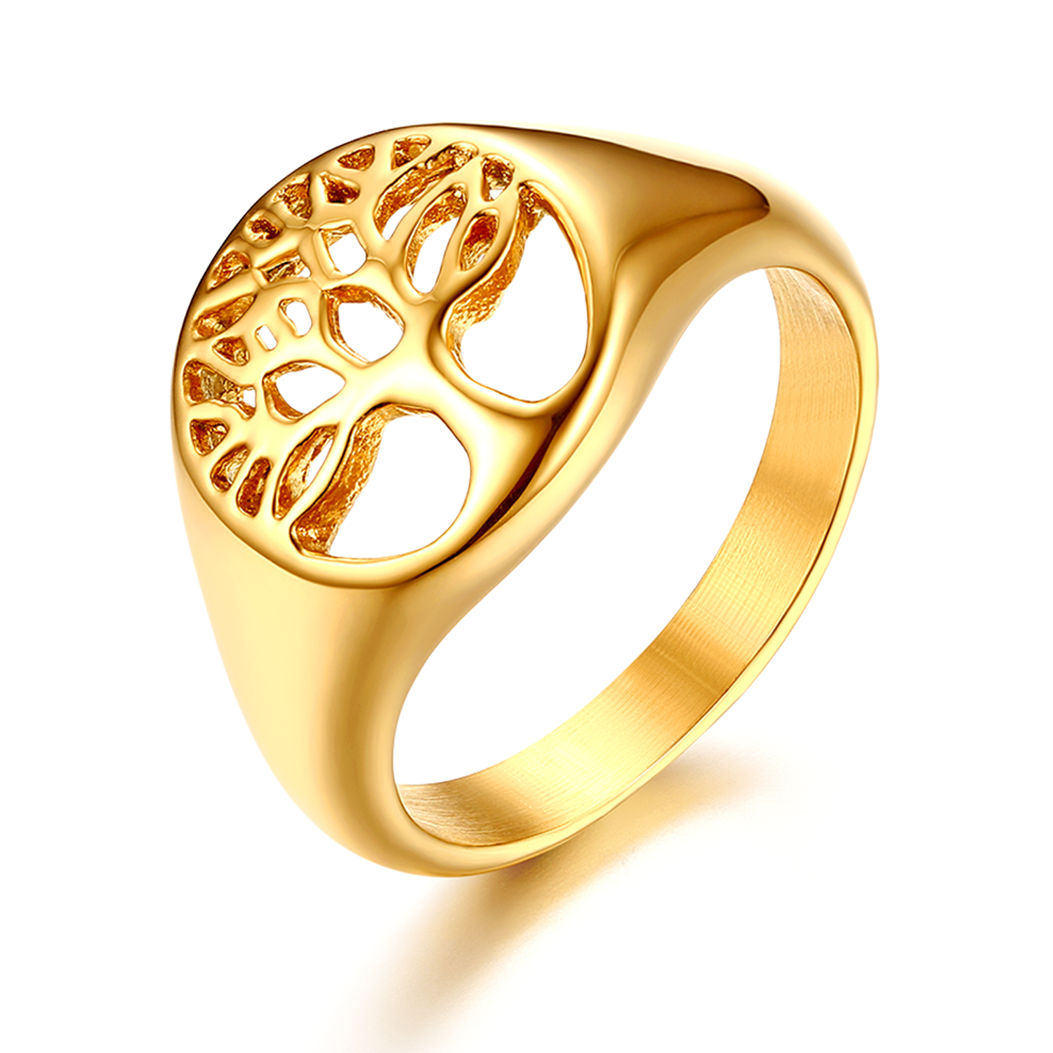Fashion jewelry Gold Silver plated Women Men/'s Stainless steel rhinestone rings
