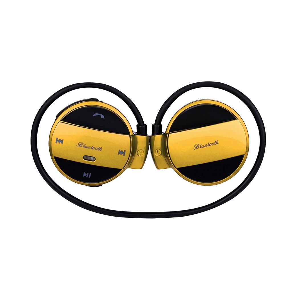 Sports Sweat Proof Wireless Bluetooth Headset Stereo Headphones Hands free Headphone Earphone TF Card Headset Earbuds