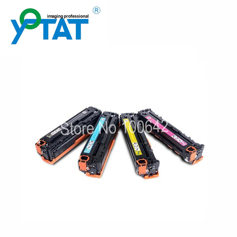 Compatible toner cartridge CF210A CF211A CF212A CF213A for HP LaserJet Pro 200M251nw M276n/nw цена 2017